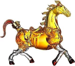 Horse Whisky Karaf, Kristalheldere Wijnbeluchter Goede Afdichting Met Hoge Capaciteit Voor Crafted Glass Brandy Tequila Bo...