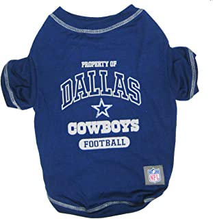 DALLAS COWBOYS Dog T-Shirt, X-Small. - Cutest Pet Tee Shirt for the real sporty pup