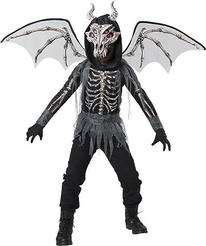 Skelett-Drache Kostüm für Kinder - 116