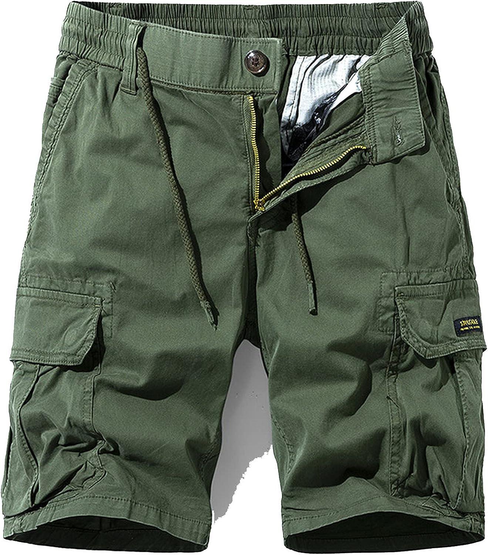 Zhang Q Spring Men Cotton Cargo Shorts Clothing Summer Casual Breeches Bermuda Fashion Beach Pants Los Cortos Short-Green2-27