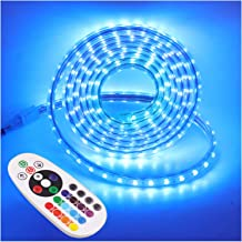 XUNATA 15m RGB LED Strip Lights with Remote Control, AU Mains Power SMD 5050 60leds/m Strips, IP65 Waterproof Commercial R...