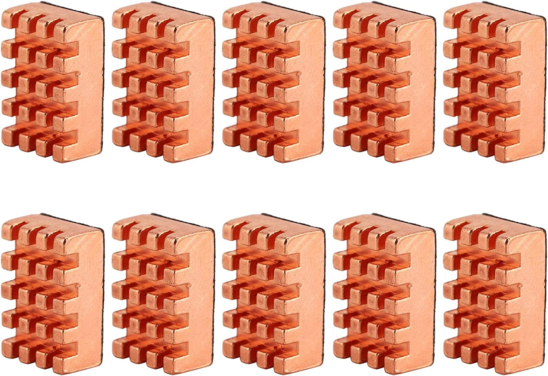 10pcs Brass Max 68% OFF Heatsink Max 69% OFF with Thermal Adhesive Heat Sinks CPU C Tape