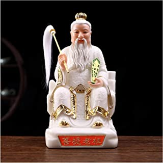 Chinese feng shui statue sculpture تمثال Buddha المنحوت باليد قدام Statue of wealth (Color : White, Size : X-Small)
