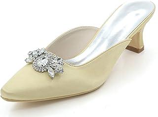 De esNuevo Dorado Mujer Zapatos Tacón Para Amazon b7gyvYf6