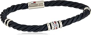 TOMMY HILFIGER MEN'S STAINLESS STEEL & BROWN LEATHER BRACELETS -2790201S