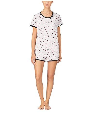 Kate Spade New York Brushed Jersey Shorts PJ Set (Ladybug) Women