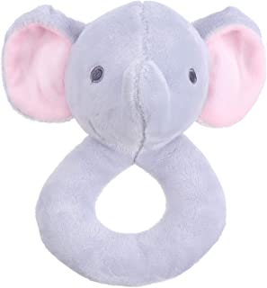Lovely Rattle Cartoon Animal Stuffed Plush Handheld Rattle Toy for Baby Infant
