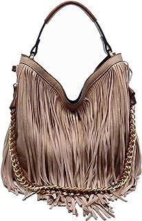 Handbag Republic Fringe Hobo w/Pull-out Pouch/Crossbody