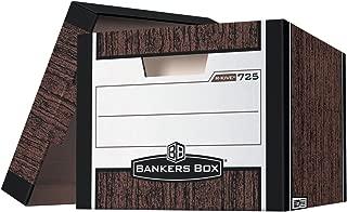 Bankers Box R-Kive Heavy Duty File Storage Box, 12 X 10 X 15 in, 850 lb, Woodgrain, Pack of 12