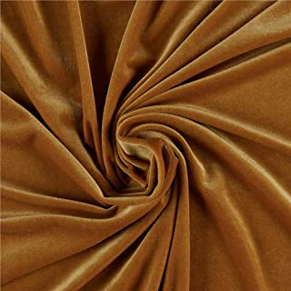 Ben Textiles Stretch Velvet, Gold