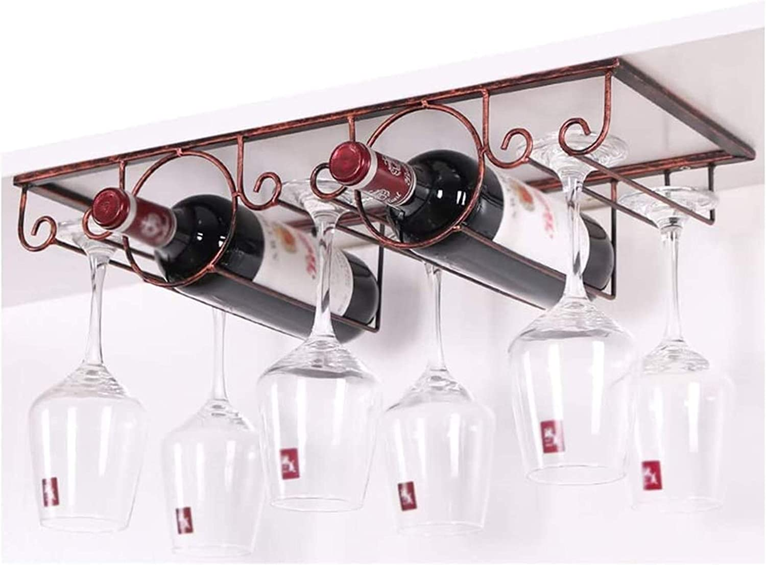 Wine Max Gifts 78% OFF Rack Glass Wrought Wall-Mounted S Iron