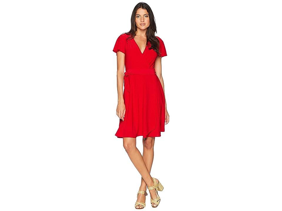 Tahari by ASL Knit Dress (Red) Women