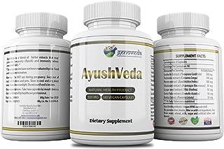 AyushVeda: Multi-Herb ImmuneBoost Anti-inflammatory, antiviral Guduchi+ Turmeric + Neem +Shatavari + Grape Seed+Gotu kola ...