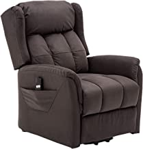 Zoy fabric lift-up recliner, Chocolate (Valerie)