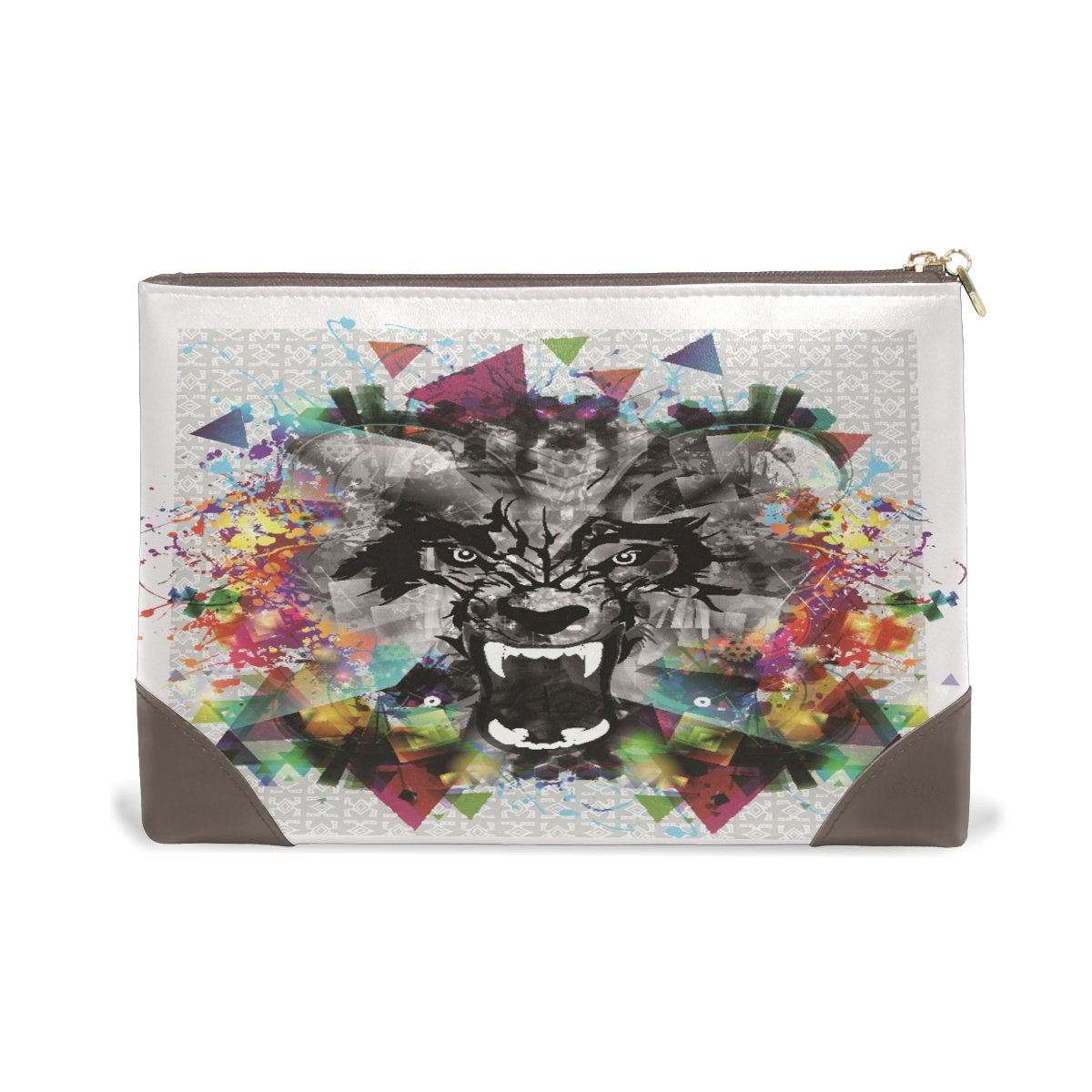 Limited price sale Genuine Leather Makeup Bag Wild Comestic Beast Today's only Ladies Case With