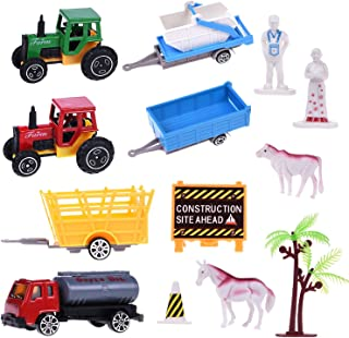 20 Pack Farm Palyset with Farm Animal &Farm Tractors, Easter Egg Stuffers, Goodie Bags Fillers, Pinata Filler,Classroom Prizes Toy, Small Toys for Easter Eggs, Kids Easter Gifts