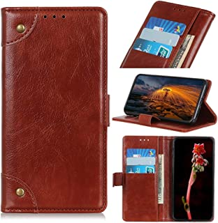 Protect Your Phone, Copper Buckle Nappa Texture Horizontal Flip Leather Case for iPhone XI (2019), with Holder & Card Slots & Wallet for Cellphone. (Color : Brown)