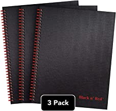 Black n' Red Twin Spiral Hardcover Notebook, Large, Black/Red, 70 Ruled Sheets, Pack of 3 (400123488)