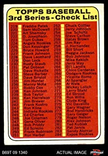 1969 Topps # 214 Checklist 3 (Baseball Card) Dean's Cards 3 - VG
