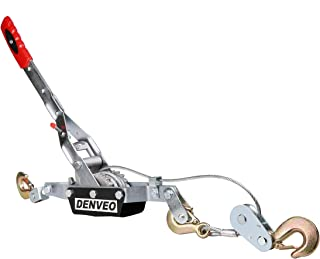 Hand Power Puller Cable Puller 4 Ton 8000lb Pulling Capacity Hand Winch Hoist with Cable and Hook 3-6D Delivery US Shipping Denshine Cable Winch Puller