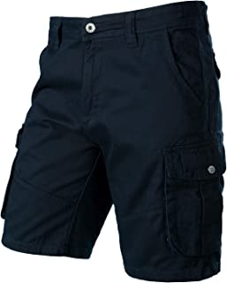 Sponsored Ad - PARKLEES Mens Classic Loose Fit Design 6 Pockets Cotton Cargo Shorts