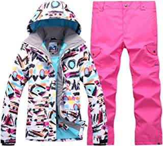 Winter Women's Single and Double Deck ski Suit Sets Outdoor Windproof, Waterproof and Thermal Climbing Suit