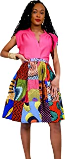 Women's African Wax Print Handmade Patchwork Skirt (S-XL)