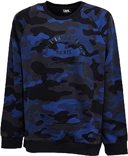 5436Z Felpa uomo Cotton Blue/Grey Camouflage Sweatshirt Man