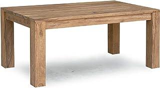 Table à manger 220x100cm - Bois massif de palissandre huilé - NATURE BROWN #827