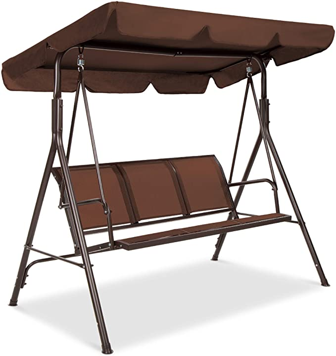 Best Choice Products 3-Seater Adjustable Canopy Swing Glider – Easy Maintenance and Highly Functional Porch Swing