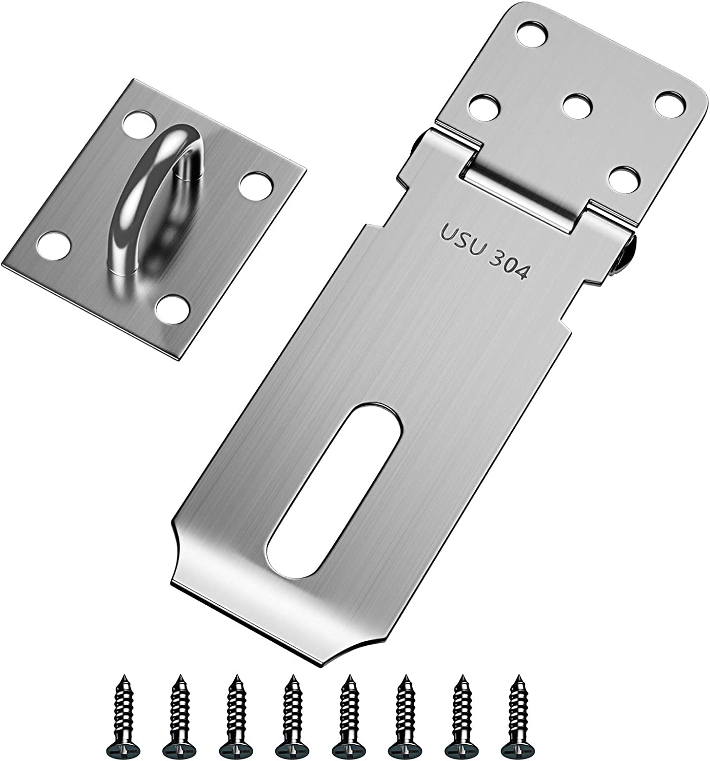 Door Hasp Latch 5 ☆ very popular Lock DRLIFE San Francisco Mall Steel Packlock 4'' Stainless Safety