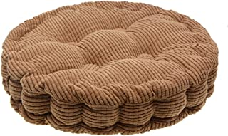 Saim Round Pillow Chair Pad Thickened Tatami Cushion Indoor Outdoor Pad,Brown