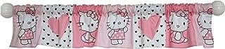 Bedtime Originals Hello Kitty Luv Hearts Window Valance, Pink/White