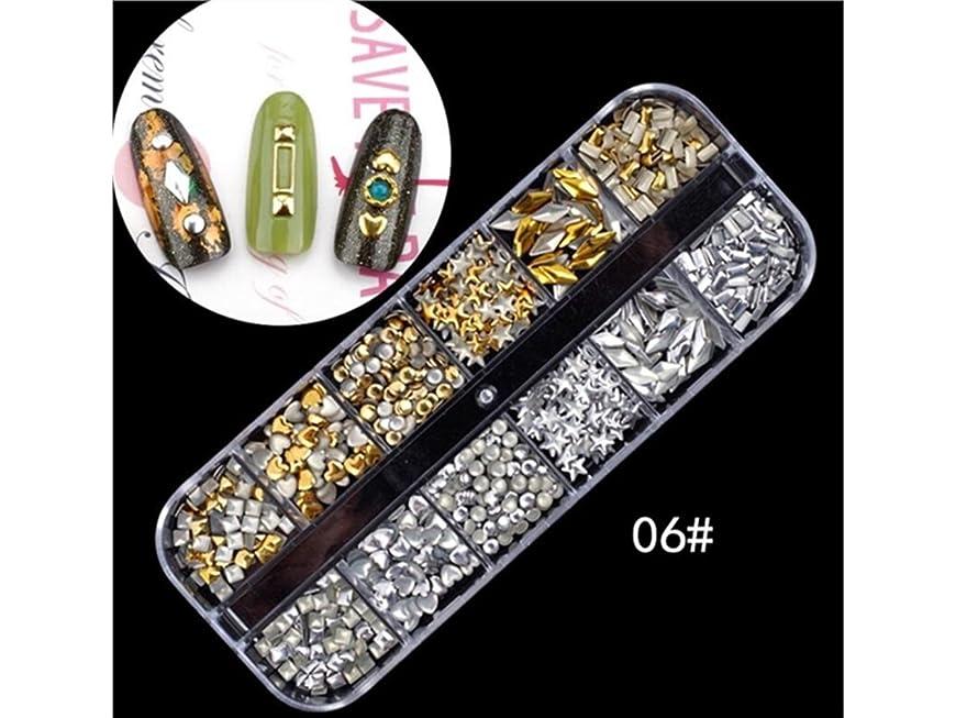 肉腫磁石はがきOsize カラフルネイルアートパールクリスタルラインストーン樹脂デコキラキラケース(ゴールデン+シルバー)