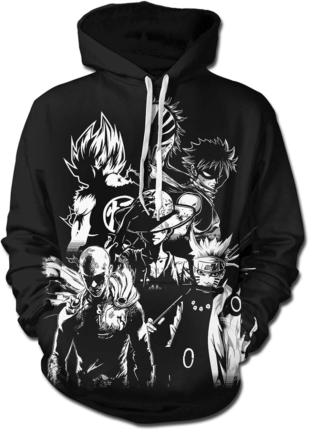Mens 3D Print Anime Hoodie Ranking TOP8 Sweatshirt Limited price Pullover Pocket with Front