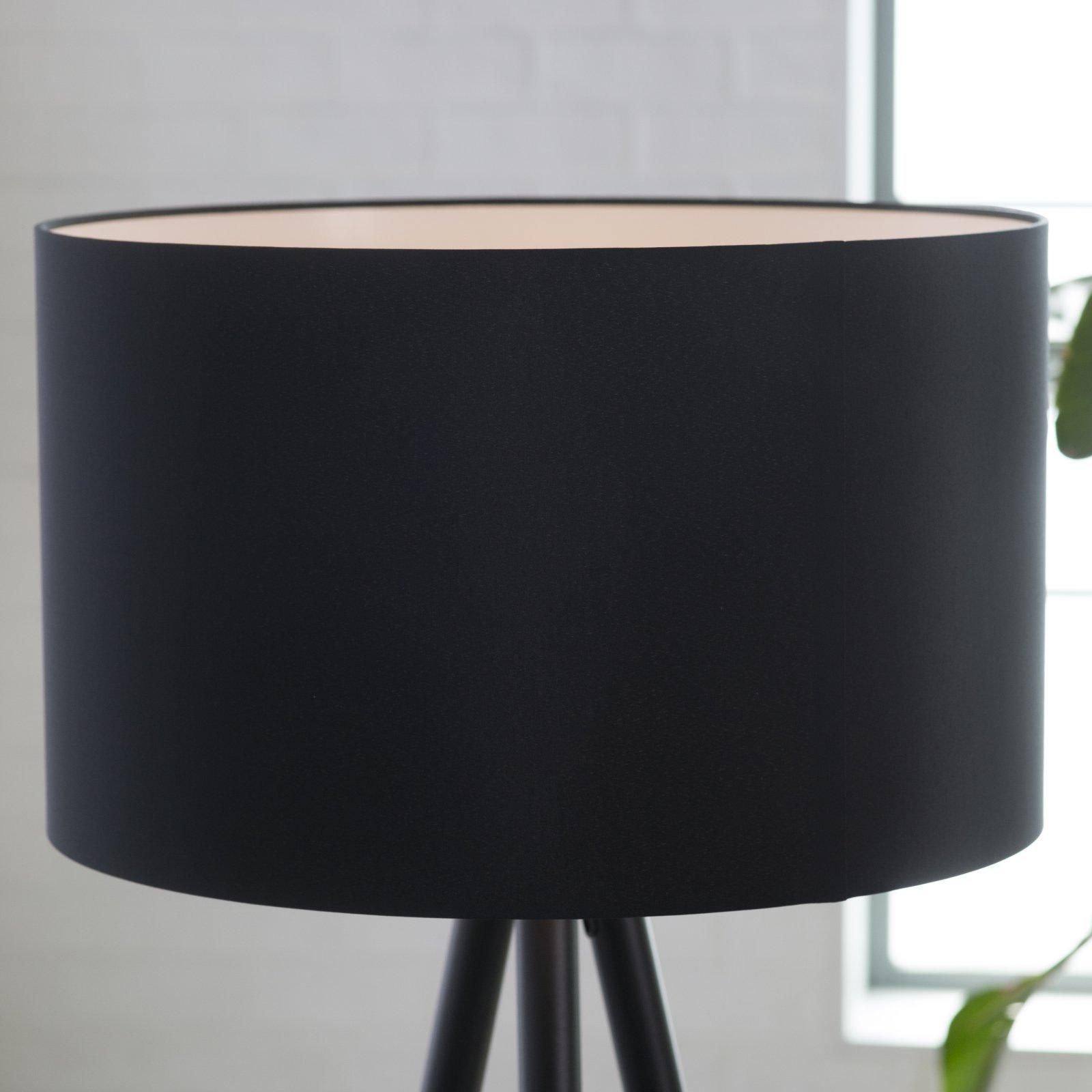 Adesso 6285 01 Louise Floor Lamp 60 25 In 150 W Incandescent Equiv Cfl Black Painted Metal W Wood Tips 1 Floor Lamp