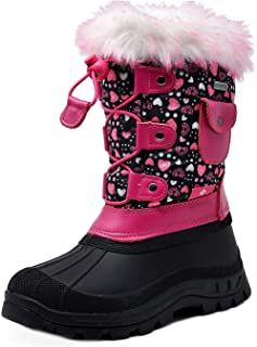 Boys Girls Insulated Waterproof Snow Boots