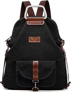 Travistar Rucksack Damen Handtasche Schultertasche Canvas Casual Damen Schultasche Umhängetaschen Anti Diebstahl Reiseruck...