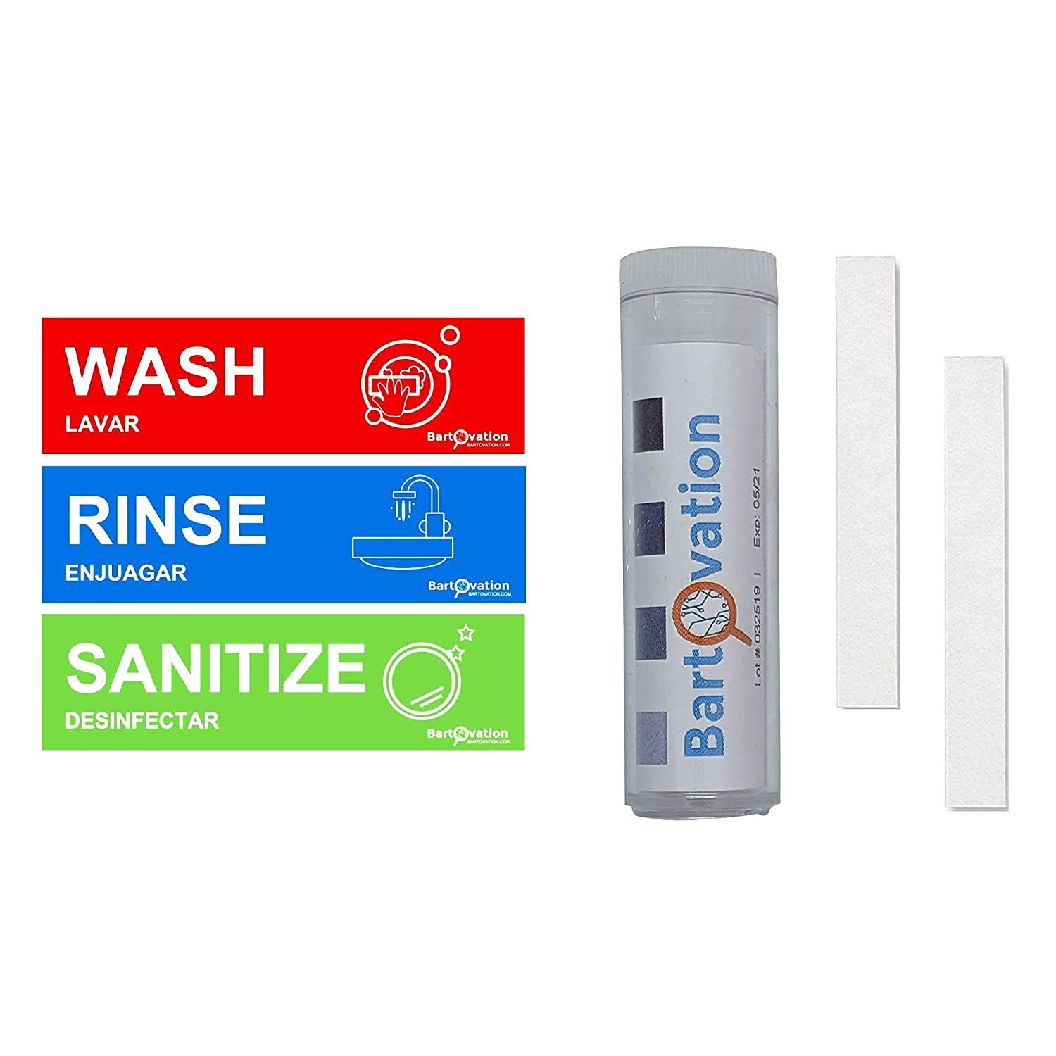 Chlorine Topics on TV Testing Strips with Rinse Heavy Viny Sanitize 2021 autumn and winter new Wash Duty