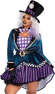 Leg Avenue Women's Plus Size Mad Hatter Costume