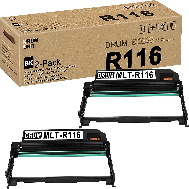 MLT-R116 (SV134A) R116 Drum Unit (Black,2 Pack) Replacement for Xpress M2825DW M2825WN M2835 M2675FN M2676N M2625 M2625D M2626 M2885FW M2876HN M288x Series M262x M267x M287x Drum Printer