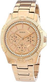 Guess Reloj Análogo clásico para Mujer de Cuarzo con Correa en Acero Inoxidable W0235L3