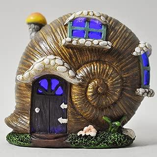 Pixie sur escargot décoration de jardin statue figurine finition bronze