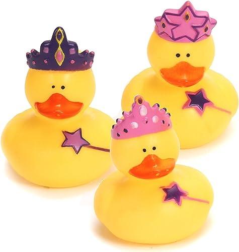 12 Princess Rubber Duckies  by Fun Express