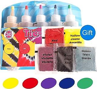 Tie-Dye Kits Neon lino y algodón ropa tintes 5Color 1