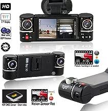 Indigi F6 Car Dash Cam DVR w/ 2.7-inch Color TFT Screen - Dual Wide Angle Lens - Motion Activation - HD Sensor