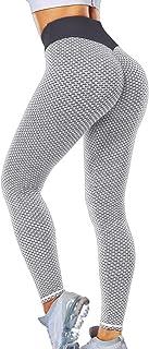 Lalamelon Leggings Sportivi Donna Pantaloni Anticellulite Vita Alta Leggins Yoga Push Up Pants Fitness Elastico Opaco Resi...