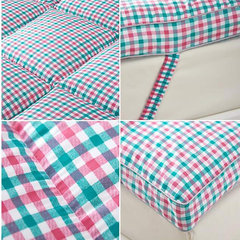 Thick Sleep Mattress Topper, Japanese futon, Tatami Floor mat Sleeping Premium Hotel Quality Mattress-Hypoallergenic-bluee 180x200cm(71x79inch)