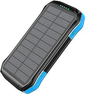ZXWNB Utomhus Robust mobil powerbank 16000 mAh PD18W snabbladdning trådlös solbank, grön, D