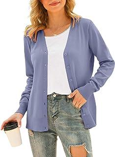 VIISHOW Women's V Neck Button Down Knitwear Long Sleeve Soft Basic Knit Cardigan Sweater